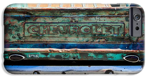 Buy iPhone Cases - Chevrolet Truck Tail Gate Emblem -0839c iPhone Case by Jill Reger