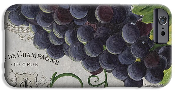 Texture iPhone Cases - Vins de Champagne 2 iPhone Case by Debbie DeWitt