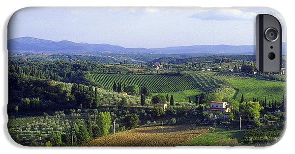Chianti Landscape iPhone Cases - Chianti Region in Italy iPhone Case by Gregory Ochocki and Photo Researchers