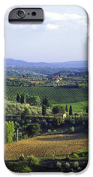Chianti Region in Italy iPhone Case by Gregory Ochocki and Photo Researchers