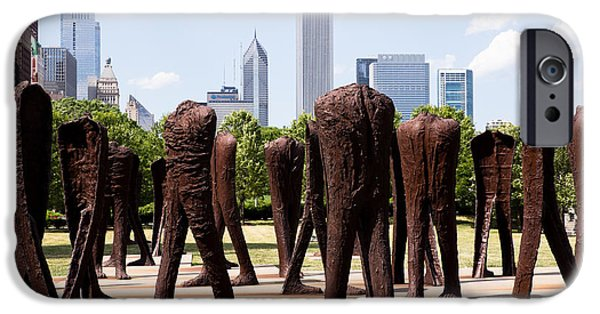 Editorial iPhone Cases - Chicago Agora Headless Statues iPhone Case by Paul Velgos