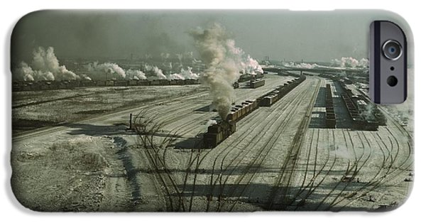 Chicago Paintings iPhone Cases - Chicago and Northwestern Railroad iPhone Case by Jack Delano