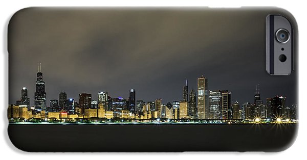 Cj iPhone Cases - Chicago At 4am iPhone Case by CJ Schmit