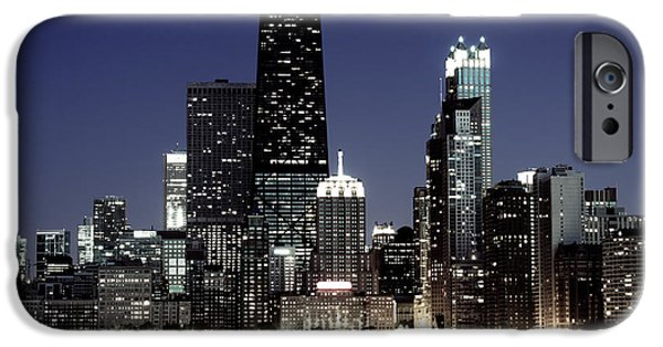 Hancock Building iPhone Cases - Chicago at Night High Resolution iPhone Case by Paul Velgos