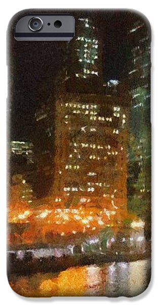 Chicago at Night iPhone Case by Jeff Kolker
