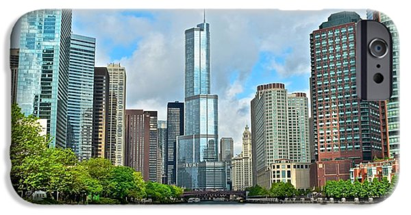 Sears Tower iPhone Cases - Chicago at Sunrise iPhone Case by Frozen in Time Fine Art Photography