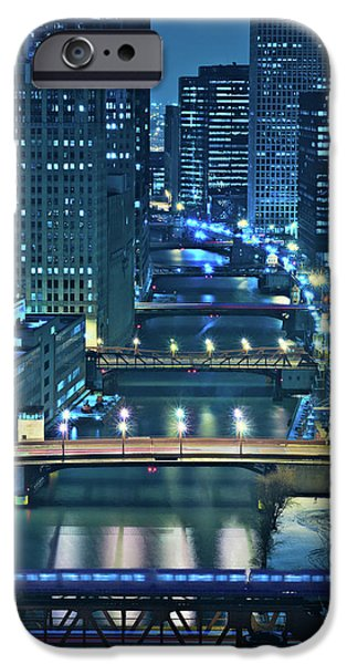 Cities Photographs iPhone Cases - Chicago Bridges iPhone Case by Steve Gadomski