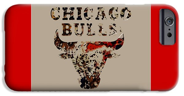 Chicago Bulls Mixed Media iPhone Cases - Chicago Bulls 23b iPhone Case by Brian Reaves