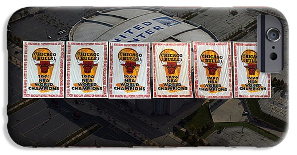 Chicago Bulls Mixed Media iPhone Cases - Chicago Bulls Banners Collage iPhone Case by Thomas Woolworth
