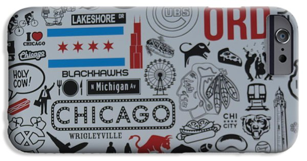 Lincoln iPhone Cases - Chicago Poster iPhone Case by Cindy Kellogg