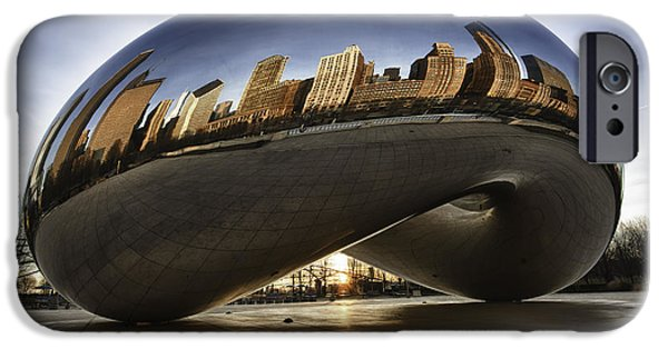 Cave iPhone Cases - Chicago Cloud Gate at Sunrise iPhone Case by Sebastian Musial