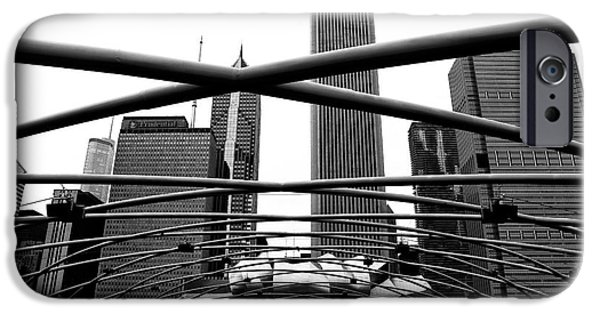 Sears Tower iPhone Cases - Chicago Dimensions iPhone Case by John Rizzuto