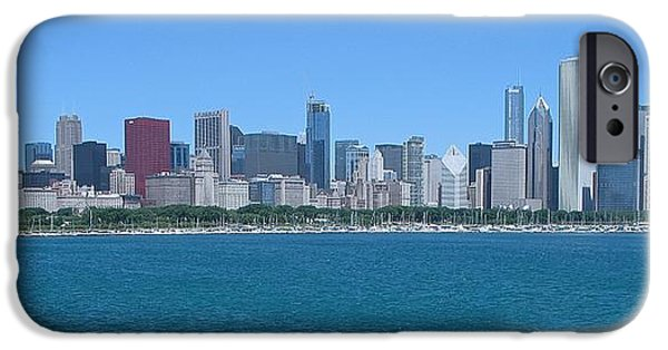 Willis Tower iPhone Cases - Chicago Downtown Skyline  iPhone Case by Sheela Ajith