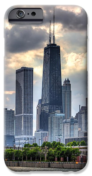Hancock Building iPhone Cases - Chicago from the Pier iPhone Case by Joshua Ball