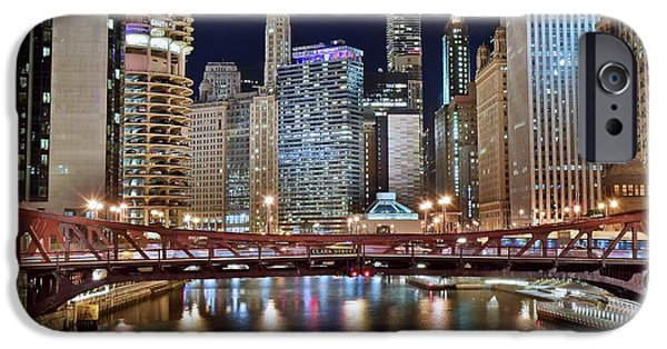 Wrigley iPhone Cases - Chicago Full City View iPhone Case by Frozen in Time Fine Art Photography