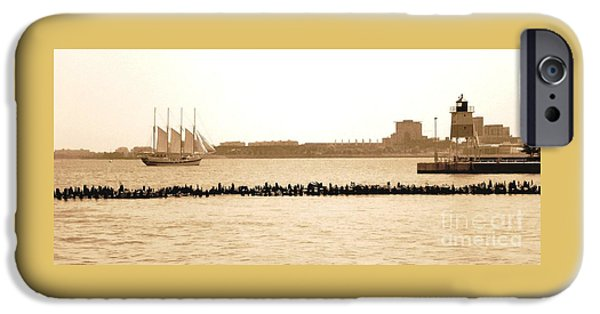 Sears Tower iPhone Cases - Chicago Harbor Sailing iPhone Case by Lisa Kilby