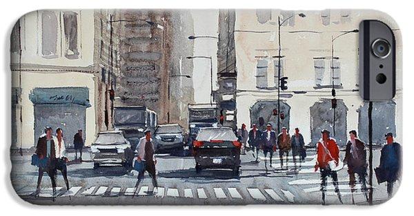 Crosswalk iPhone Cases - Chicago Impressions iPhone Case by Ryan Radke