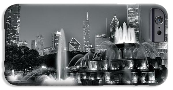Chicago Cubs iPhone Cases - Chicago in Black and White iPhone Case by Frozen in Time Fine Art Photography
