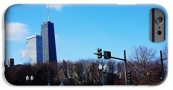Willis Tower Paintings iPhone Cases - chicago john Hancock Building iPhone Case by Celestial Images