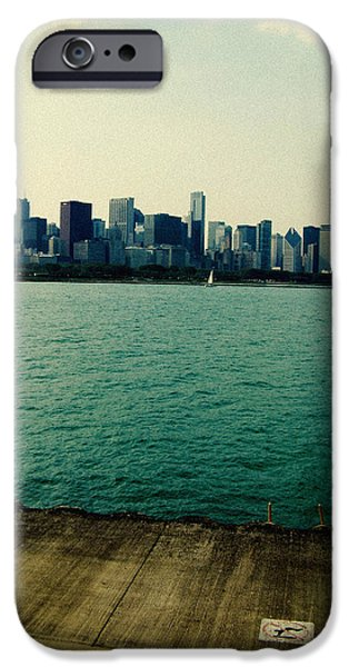 Willis Tower iPhone Cases - Chicago Lake Michigan Skyline iPhone Case by Kyle Hanson