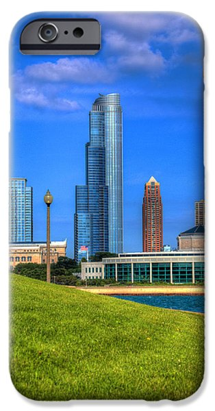 Sears Tower iPhone Cases - Chicago Lakefront iPhone Case by Robert Storost
