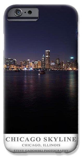Chicago Lakefront Skyline Poster iPhone Case by Steve Gadomski