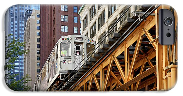 Christine Till iPhone Cases - Chicago Loop L iPhone Case by Christine Till