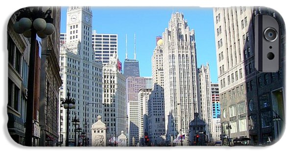 Miracle iPhone Cases - Chicago Miracle Mile iPhone Case by Anita Burgermeister