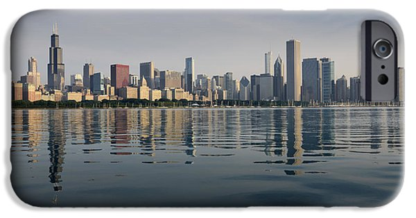 Morning iPhone Cases - Chicago Morning July 2015 iPhone Case by Donald Schwartz