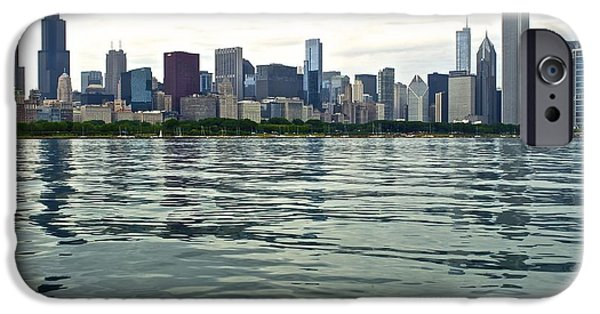 Chicago Cubs iPhone Cases - Chicago Morning on the Lakefront iPhone Case by Frozen in Time Fine Art Photography
