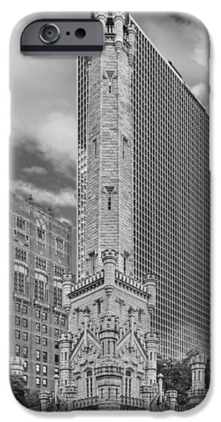 Christine Till iPhone Cases - Chicago - Old Water Tower iPhone Case by Christine Till