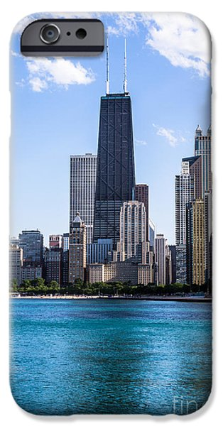 Hancock Building iPhone Cases - Chicago Photo of Skyline and Hancock Building iPhone Case by Paul Velgos