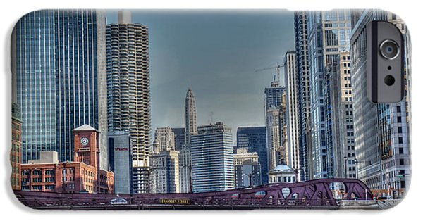 Franklin iPhone Cases - Chicago River East iPhone Case by David Bearden