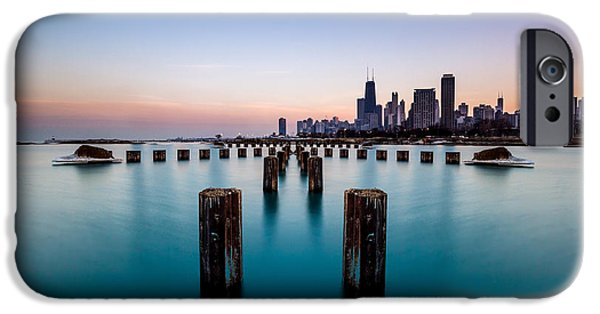 Chicago iPhone Cases - Chicago Seascape iPhone Case by Enis Mullaj