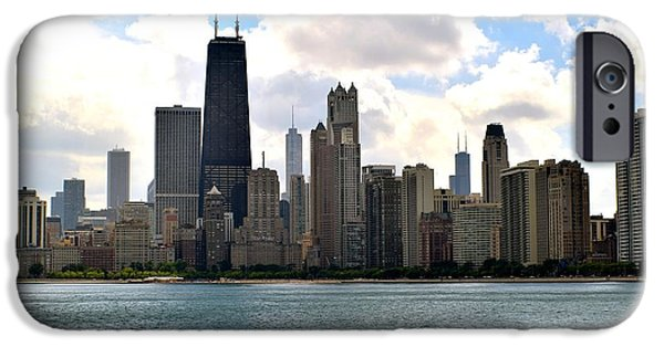 Wrigley iPhone Cases - Chicago Shoreline iPhone Case by Frozen in Time Fine Art Photography