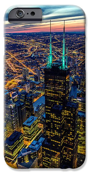 Willis Tower iPhone Cases - Chicago Sky iPhone Case by Enis Mullaj