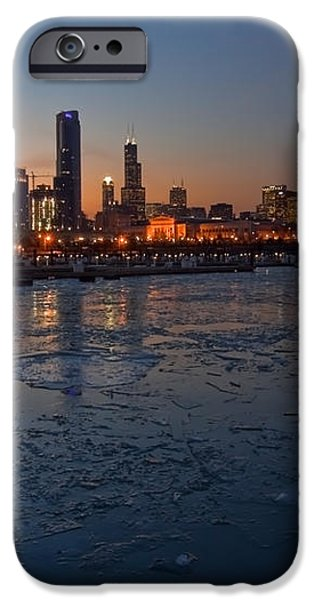 Chicago skyline at Dusk iPhone Case by Sven Brogren