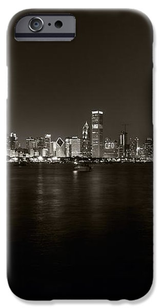 Chicago Skyline Fireworks BW iPhone Case by Steve Gadomski
