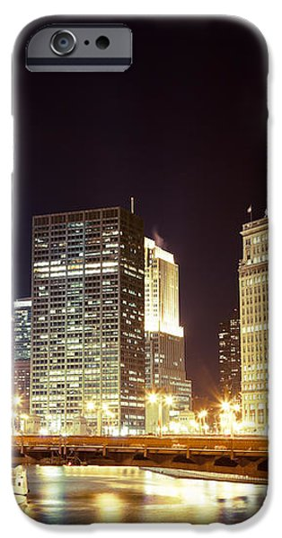 Chicago State Street Bridge at Night iPhone Case by Paul Velgos