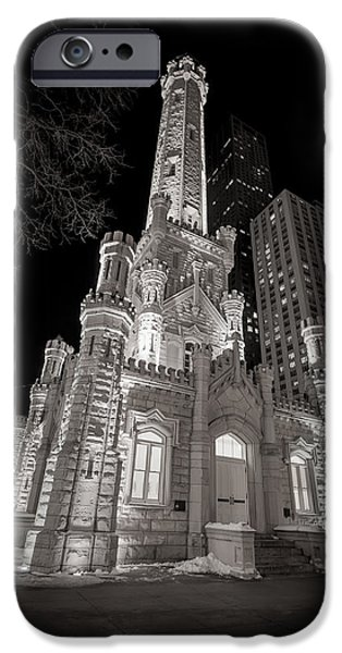 Monochrome iPhone Cases - Chicago Water Tower iPhone Case by Adam Romanowicz