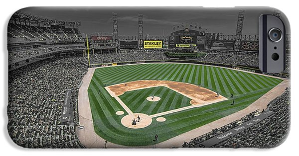 Baseball Stadiums iPhone Cases - Chicago White Sox US Cellular Field Creative iPhone Case by David Haskett