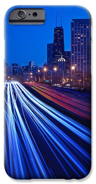 Lake Shore Drive iPhone Cases - Chicagos Lake Shore Drive iPhone Case by Steve Gadomski