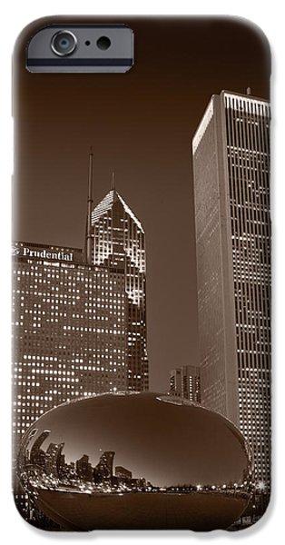 iPhone Cases - Chicagos Millennium Park BW iPhone Case by Steve Gadomski