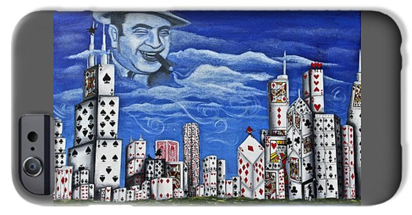 Chicago Paintings iPhone Cases - Chicagos Most Wanted iPhone Case by Chloe Gertz