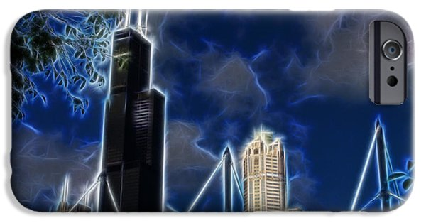 Willis Tower iPhone Cases - Chicagos Sears Tower iPhone Case by Chris Flees