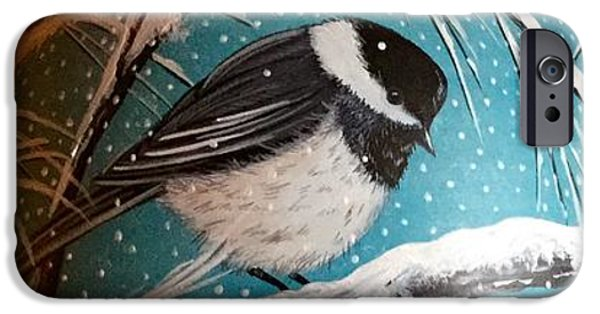 Storm Ceramics iPhone Cases - Chickadee Vase View 2 iPhone Case by Jennifer Lake