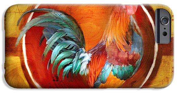 Brave Mixed Media iPhone Cases - Chicken Little iPhone Case by Joel Payne