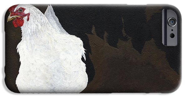 Advocacy iPhone Cases - Chicken Shadow iPhone Case by Twyla Francois