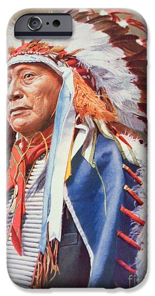 Figure iPhone Cases - Chief Hollow Horn Bear iPhone Case by American School
