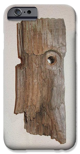 Nature Abstract Sculptures iPhone Cases - Chief iPhone Case by Maureen Mo Huddleston